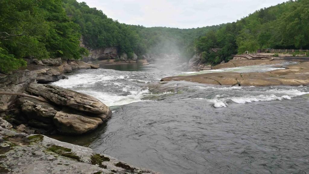 Near the crest of Cumberland Falls 5/16/15