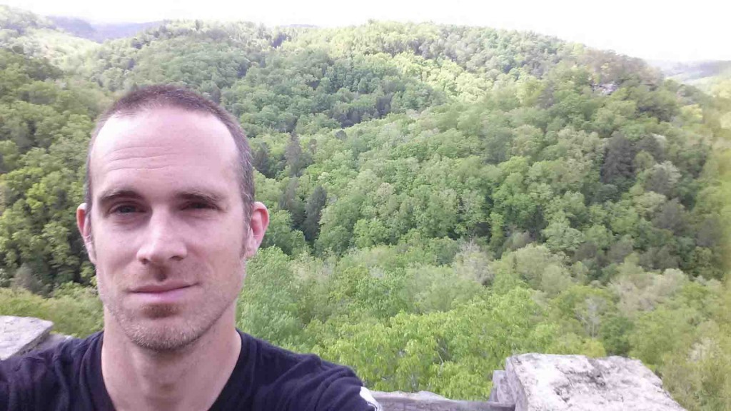 Jeremy at Three Forks of Beaver Overlook 5-12-15