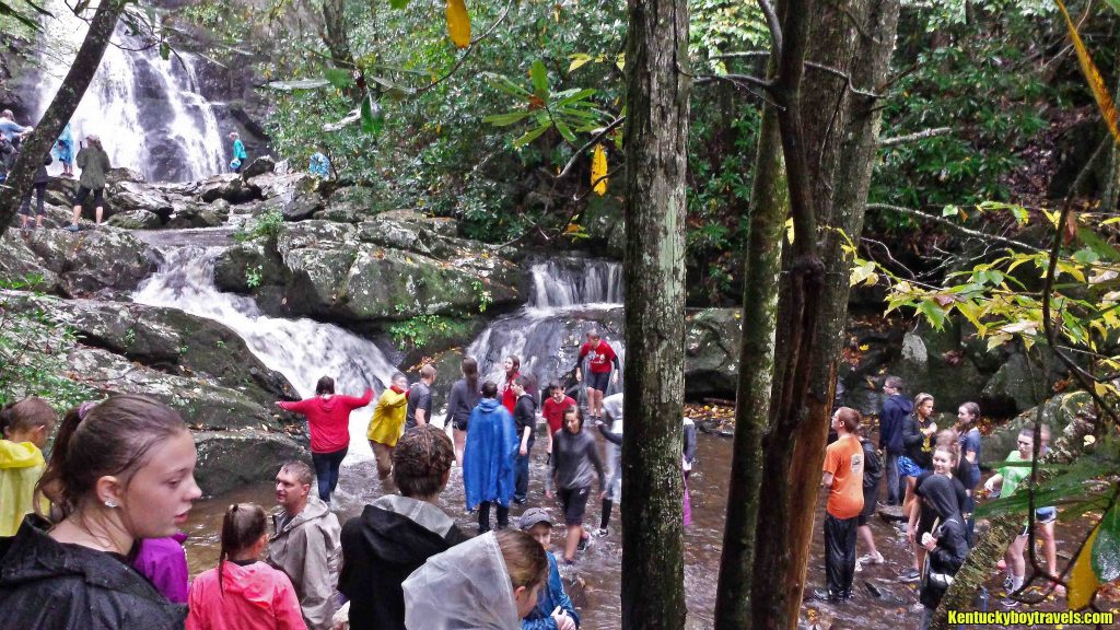 Big Crowd at Spruce Flats Falls on 10-10-15