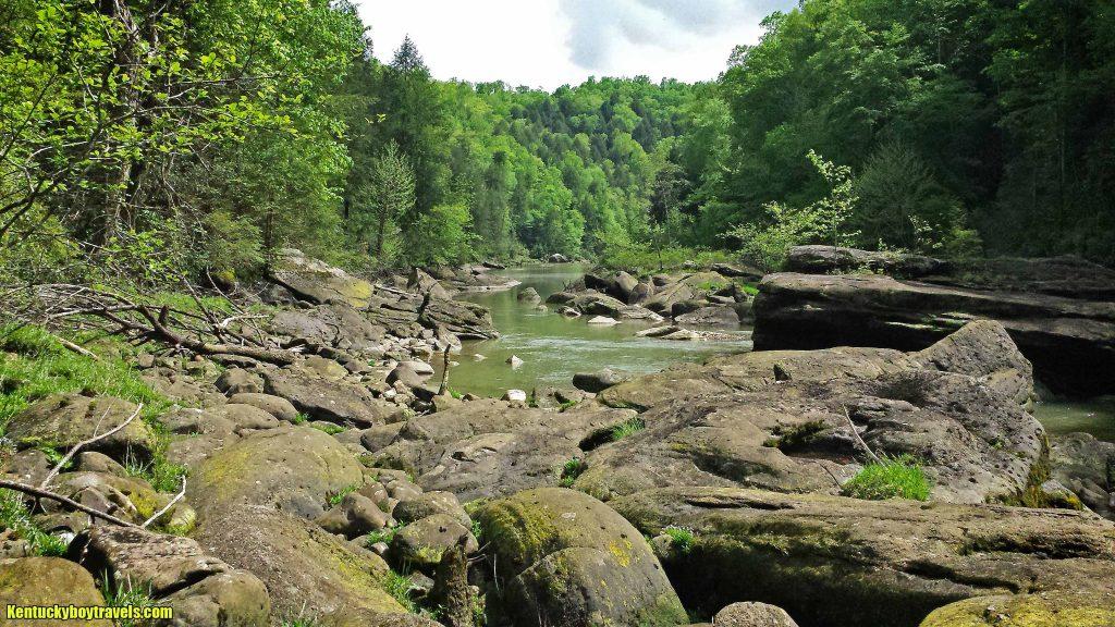 The boulder-riddled Laurel River 5/1/16