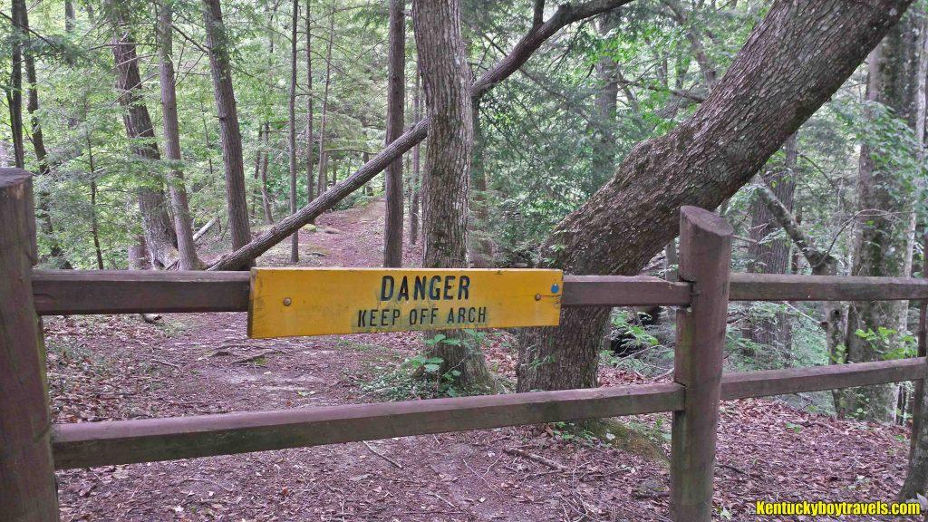 Danger Keep Off Split Bow Arch 5-25-16