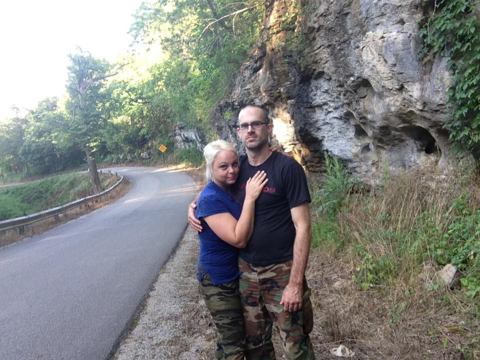 Delania and Jeremy Outside Blast Cave 7-10-16
