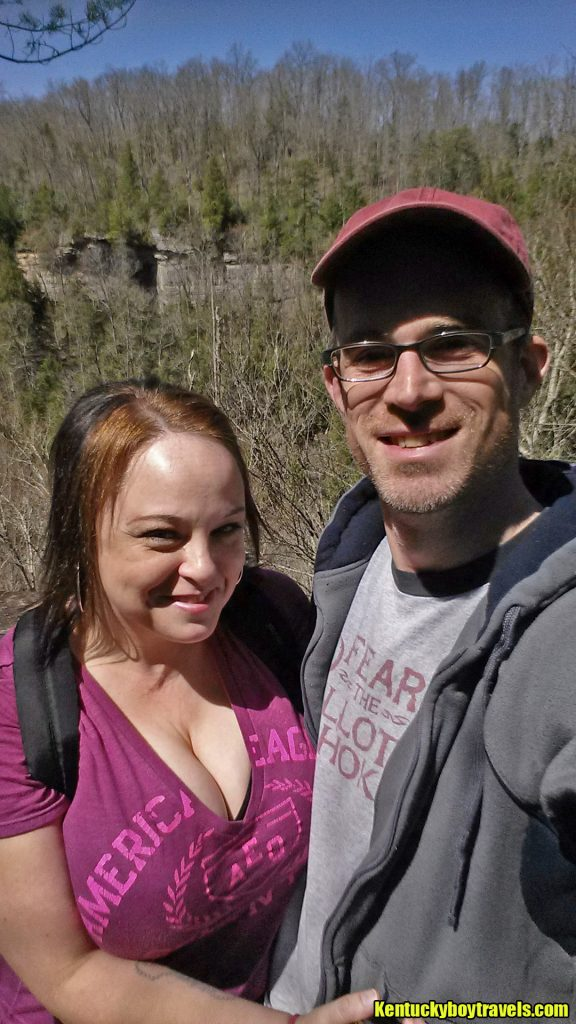 Delania and Jeremy at Laurel River Overlook #1 on 4-3-16