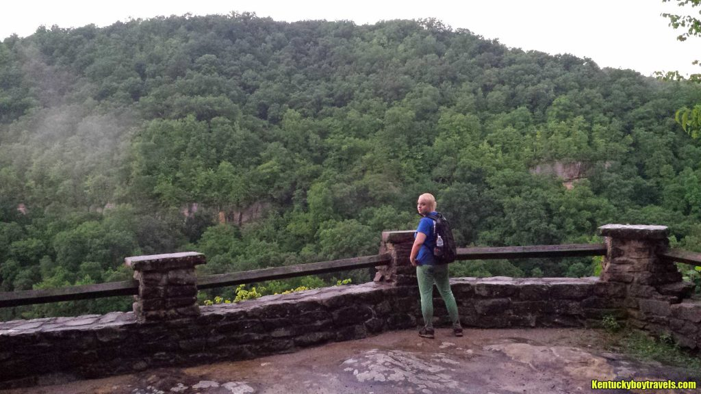 Delania at Yahoo Falls Overlook #1 on 7-4-16