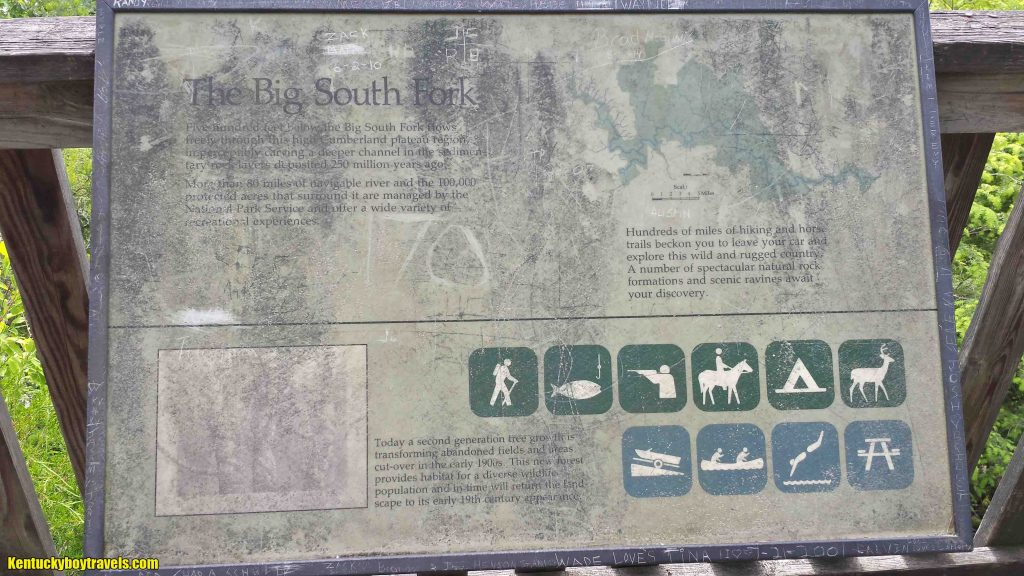 Interpretive Sign at Bear Creek Overlook 5-25-15