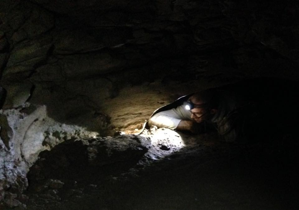 Jeremy Crawling in Blast Cave 7-10-16