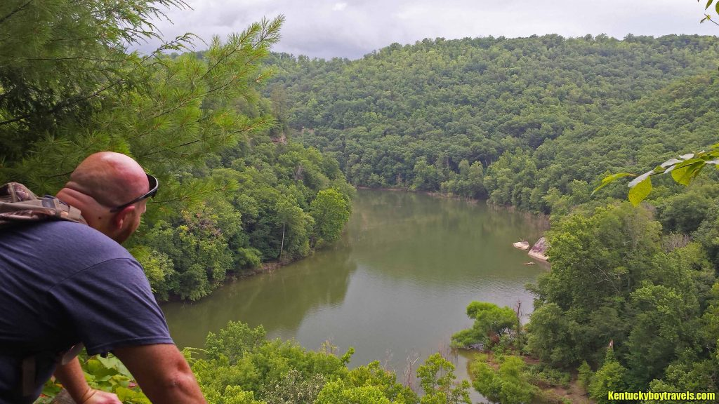 Shane at Yahoo Falls Overlook #2 on 7-4-16