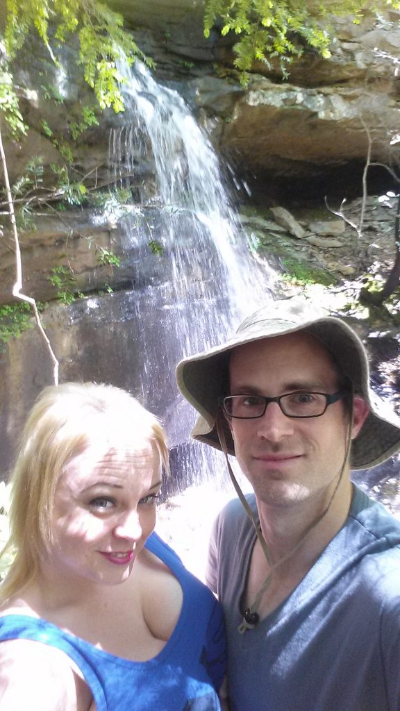 Delania and Jeremy at FR 121 Dead-End Falls on 5/4/16