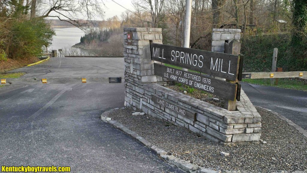 Mill Springs Mill Sign 12-3-15