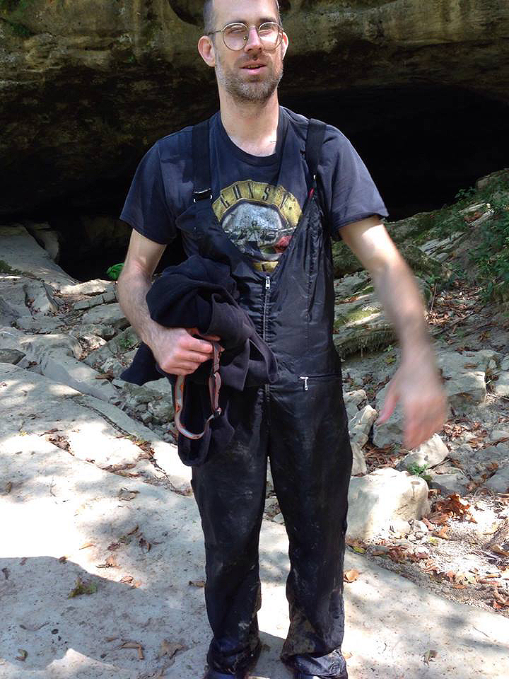 jeremy-in-some-over-alls-outside-wells-cave-river-entrance-9-12-16
