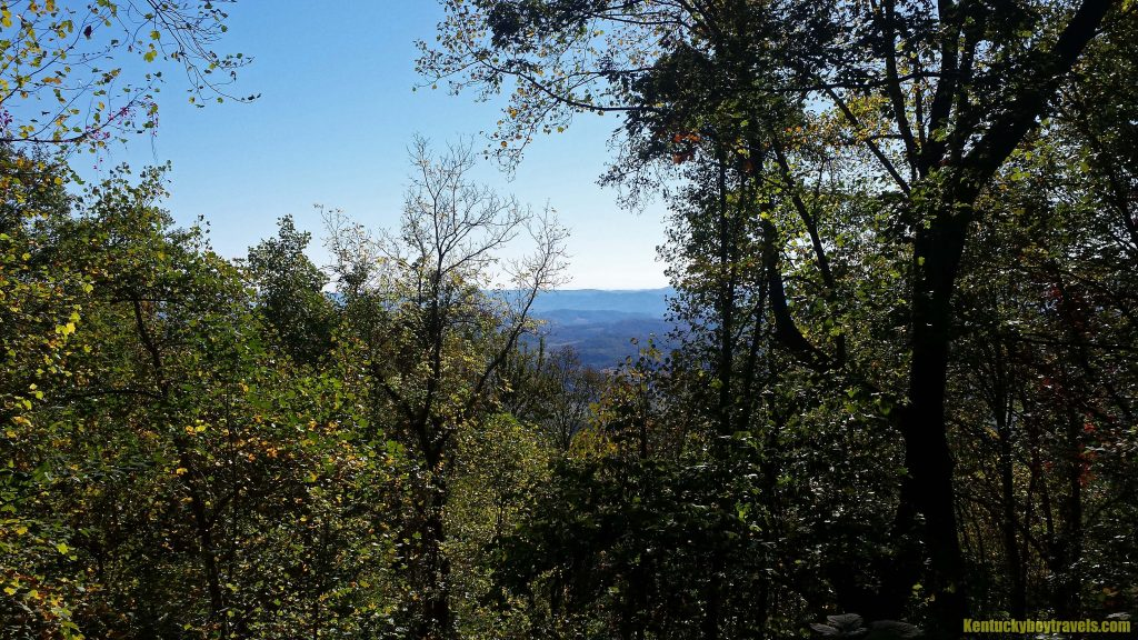 A partial overlook on Ewing Trail 10/23/16