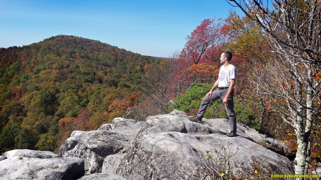 Jeremy Atop White Rocks Overlook 10/23/16
